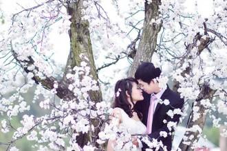 Chụp ảnh cưới vào mùa xuân