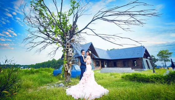 Vườn tình yêu - chụp ảnh cưới tại phim trường Smiley Ville